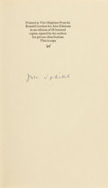 Books:Literature 1900-up, John Updike. Four Signed or Inscribed Pamphlets. ... (Total: 4Items)