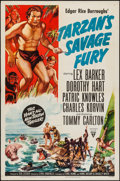 "Movie Posters:Adventure, Tarzan's Savage Fury (RKO, 1952). One Sheet (27"" X 41"").Adventure.. ..."