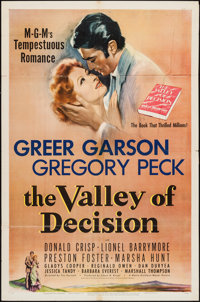 """The Valley of Decision (MGM, 1945). One Sheet (27"""" X 41""""). Drama"""
