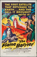 "Movie Posters:Science Fiction, The Flame Barrier (United Artists, 1958). One Sheet (27"" X 41"").Science Fiction.. ..."