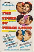 """Movie Posters:Romance, The Story of Three Loves (MGM, 1953). One Sheet (27"""" X 41"""") & Lobby Card Set of 8 (11"""" X 14""""). Romance.. ... (Total: 9 Items)"""