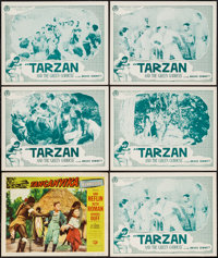 """Tarzan and the Green Goddess & Others Lot (American Trading Association, R-1940s). Lobby Card Sets of 4 (2) (11""""..."""