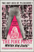 "Movie Posters:Sexploitation, The Pink Pussy: Where Sin Lives (Cambist Films, 1964). One Sheet(27"" X 41""). Sexploitation.. ..."
