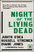 """Movie Posters:Horror, Night of the Living Dead (Continental, 1968). Military One Sheet (27"""" X 41""""). Horror.. ..."""