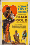 """Movie Posters:Black Films, Black Gold (Norman, 1928). Trimmed One Sheet (27"""" X 39.5""""). BlackFilms.. ..."""