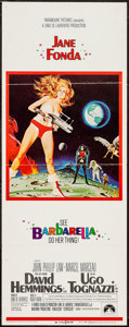 """Movie Posters:Science Fiction, Barbarella (Paramount, 1968). Insert (14"""" X 36""""). Science Fiction....."""