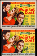 "Movie Posters:Adventure, The Scarlet Coat (MGM, 1955). Autographed Trimmed Title Lobby Card(10.25"" X 13"") & Title Lobby Card (11"" X 14""). Adventure....(Total: 2 Items)"