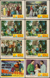 """Wake of the Red Witch (Republic, 1949). Title Lobby Card & Lobby Cards (7) (11"""" X 14""""). Adventure. ... (To..."""