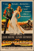 """Movie Posters:Action, The Conqueror (RKO, 1956). One Sheet (27"""" X 41""""). Action.. ..."""