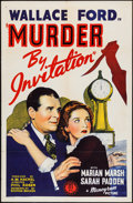 "Movie Posters:Crime, Murder by Invitation (Monogram, 1941). One Sheet (27"" X 41"").Crime.. ..."