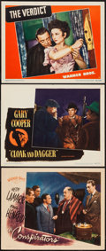 "Movie Posters:War, The Conspirators & Others Lot (Warner Brothers, 1944). LobbyCards (3) (11"" X 14""). War.. ... (Total: 3 Items)"