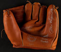 Baseball Collectibles:Others, Allie Reynolds Signed Wichita Sporting Goods Baseball Glove....
