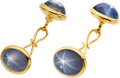 Estate Jewelry:Cufflinks, Star Sapphire, Gold Cuff Links. ...