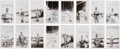 Autographs:Photos, 1948 Stan Musial, Enos Slaughter & Others Signed Snapshots Lotof 16....
