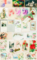 Miscellaneous:Postcards, [Postcards]. Group of Twenty-Six with Birthday Themes. Very good.From the collection of Judith Adelman. . ...