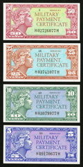 Military Payment Certificates:Series 611, Series 611 5¢; 10¢; 25¢; 50¢ Choice New or Better.. ... (Total: 4 notes)