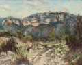 Texas:Early Texas Art - Drawings & Prints, JESSIE DAVIS (American, 1887-1969). Ray Davis Ranch,Brackettville, Texas, circa 1950s. Pastel on paper. 8-1/4 x10-1/4 ...