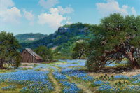 WILLIAM A. SLAUGHTER (American, 1923-2003) Only in Texas Oil on canvas 24 x 36 inches (61.0 x 91