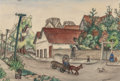Texas:Early Texas Art - Drawings & Prints, ETHEL SPEARS (American, 1903-1974). Afternoon Activity.Mixed media on paper. 12-1/2 x 18-1/4 inches (31.8 x 46.4 cm) (s...