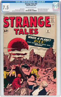 Strange Tales #97 (Marvel, 1962) CGC VF- 7.5 Off-white to white pages