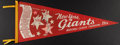 Baseball Collectibles:Others, 1954 New York Giants National League Champions Pennant....