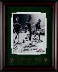 Basketball Collectibles:Photos, Havlicek, Jones and Russell Multi Signed Photograph....