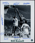 Basketball Collectibles:Photos, Friends of Bill Russell Multi Signed Oversized Photograph - 9 ofNBA's Top 50....