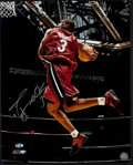Basketball Collectibles:Photos, Dwyane Wade Signed Oversized Photograph - Rookie Signature....