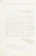 Autographs:Military Figures, [Civil War]. Colonel James A. Mulligan: Two Letters Signed....