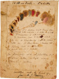 Autographs:Artists, Thomas Sully Paint Palette with Autograph Description....