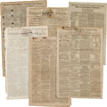 Miscellaneous:Ephemera, Six Early Newspapers...