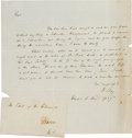 Autographs:Statesmen, Henry Clay Autograph Document Signed...
