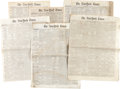 Miscellaneous:Ephemera, [Civil War and Reconstruction]. Newspaper: Six Issues of the NewYork Times...