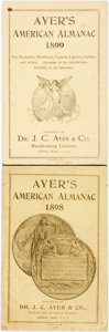 Books:Americana & American History, [Almanac]. Pair of Ayer's American Almanacs. Lowell: J.C. Ayer,1898, 1899. Original wrappers. Some soiling and edgewear. V...(Total: 2 Items)