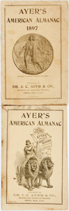Books:Americana & American History, [Almanac]. Pair of Ayer's American Almanacs. Lowell: J.C. Ayer, 1896, 1897. Original wrappers. Some soiling and edgewear. I... (Total: 2 Items)