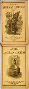 Books:Americana & American History, [Almanac]. Pair of Ayer's American Almanacs. Lowell: J.C. Ayer, 1892, 1893. Original wrappers. Some soiling and edgewear. V... (Total: 2 Items)