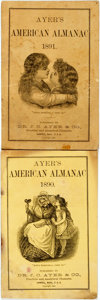 Books:Americana & American History, [Almanac]. Pair of Ayer's American Almanacs. Lowell: J.C. Ayer,1890, 1891. Original wrappers. Some soiling and edgewear. V...(Total: 2 Items)