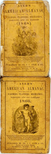 Books:Americana & American History, [Almanac]. Pair of Ayer's American Almanacs. Lowell: J.C. Ayer,1866, 1868. Original wrappers. Some soiling. Very good. ... (Total:2 Items)