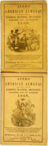 Books:Americana & American History, [Almanac]. Pair of Ayer's American Almanacs. Lowell: J.C. Ayer,1868, 1869. Original wrappers. Some soiling. Very good. . ...(Total: 2 Items)