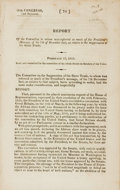 Books:Americana & American History, [Slave Trade]. Report of the Committee to Whom was Referred SoMuch of the President's Message, of the 7th of December L...