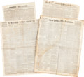 Miscellaneous:Ephemera, [Slavery]. Four Newspapers...