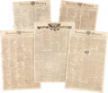 Miscellaneous:Ephemera, [War of 1812]. Five Newspapers...