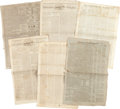 Miscellaneous:Ephemera, [Lewis and Clark]. Six Newspapers with William Clark and MeriwetherLewis Content.... (Total: 6 )