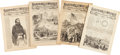 Miscellaneous:Ephemera, [Civil War and Reconstruction]. Harper's Weekly: Four Issueswith Civil War Content...