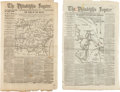 Miscellaneous:Ephemera, [Civil War]. Newspaper: Two Issues of The PhiladelphiaInquirer....
