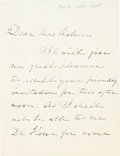 Autographs:Authors, Julia Ward Howe Autograph Letter Signed....
