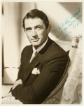 Autographs:Celebrities, Gregory Peck Inscribed Photograph Signed....