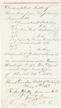 Autographs:Military Figures, Samuel P. Heintzelman Partial Document Signed...