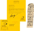 Autographs:Artists, Charles M. Schulz Typed Letter Signed...