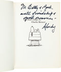 Autographs:Artists, Charles M. Schulz Inscribed Book Signed....